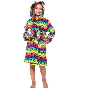 Ty Beanie Boo Dotty the Multicolored Leopard Robe